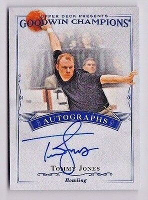 2016 Goodwin Champions Tommy Jones On Card Auto - Bowling Star