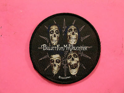 Bullet For My Valentine 2006 Woven Patch Sew On  Uk Import