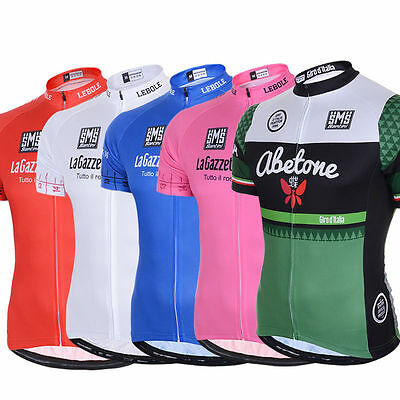 New Summer Mens Sport Cycling Racing Jersey Bike Bicycle Short Sleeve Shirt Top