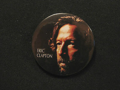 "1991 Eric Clapton  1"" Vintage Badge  Button Pin Official Uk Import"