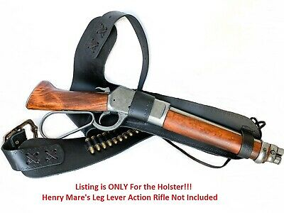 Henry 1892 Mare's Leg Lever Action Rifle Leather Holster - Mares - Denix Replica