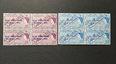 ASstamps Bermuda 1953 Three Power Conference Set MNH(4) MH(4) Sc#164-165