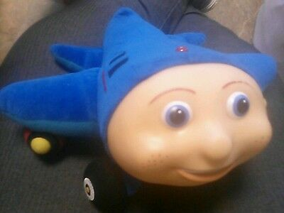 "JAY JAY the JET PLANE Plush Stuffed Animal Toy Blue 10"" long 12"" across EUC"