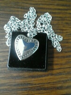 """Memorial Cremation Jewellery/Pendant/Urn/Keepsake for Ashes-""""Silver Heart"""""""