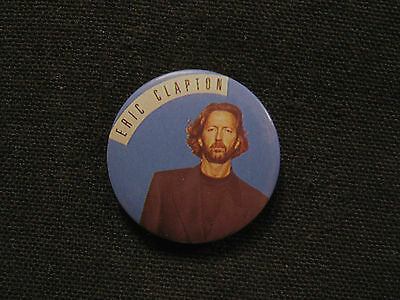 Eric Clapton Vintage Button Badge Pin Official Uk Made