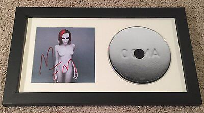 MARILYN MANSON SIGNED AUTOGRAPH MECHANICAL ANIMALS FRAMED CD w/EXACT VIDEO PROOF