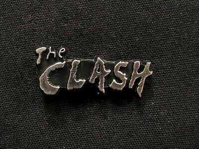 Small Vintage Clash Plastic Pin Silver Tone Uk Import