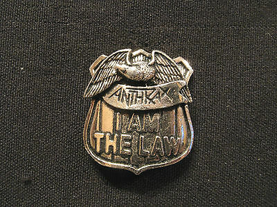 Anthrax Small Vintage Pewter Pin Button Badge Uk Import Poker
