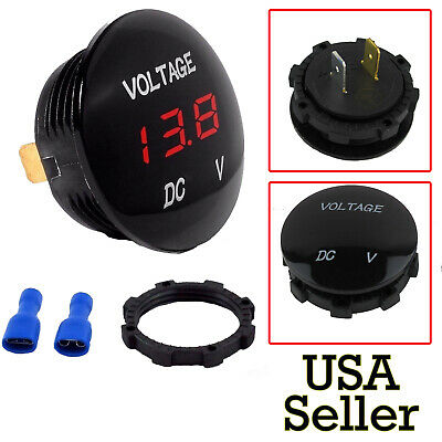 DC12V Red LED Panel Digital Voltage Meter Display Voltmeter Car Motorcycle