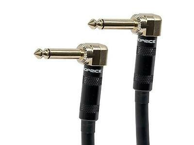 8inch 1/4 inch Right Angle Male to Right Angle Male 16AWG Guitar Patch Cable