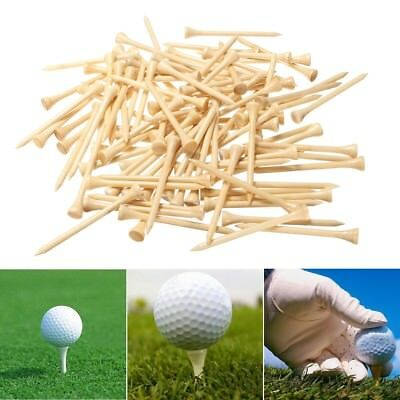 """100PCS Burlywood Wooden Golf Tees 83mm (3 1/4"""")  Golfer Fathers Gift New"""