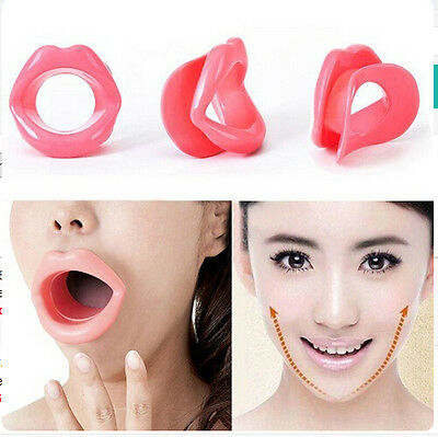 Face Slimmer Exercise Mouth Piece Muscle Anti-Wrinkle Functional Silicone Rubber