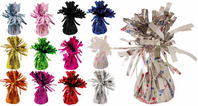 6 Foil Balloon Weights - Choose From 12 Colours - Metallic Birthday Party
