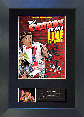 ROY CHUBBY BROWN Signed Mounted Autograph Photo Prints A4 478