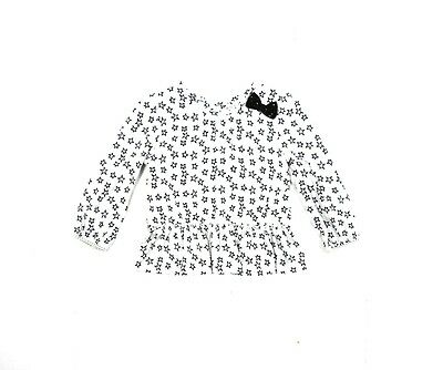 Girls Baby Star Print Sequin Bow Frill Smart Evening Blouse Shirt 1 - 6 Years