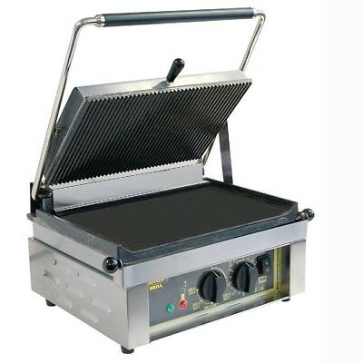 Roller Grill PANINI L Ribbed Top & Flat Base Contact Grill (Boxed New)