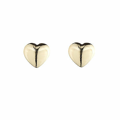 9ct White gold double heart Valentine's stud earrings. Gift box AMkIeGP