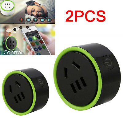 2PCS Smart Socket Outlet for WiFi IR Remote Control Timer Switch Automation F7