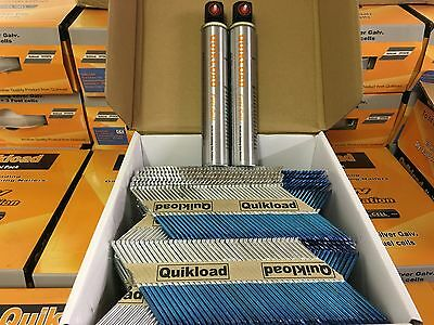 1 Quikload Nail Pack For Paslode Im350 Nailer 31/90 Ring Galv 2200 And 2 Cells