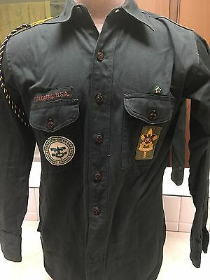 1950's Boy Scout Explorer Long Sleeve Uniform Shirt W/Patches