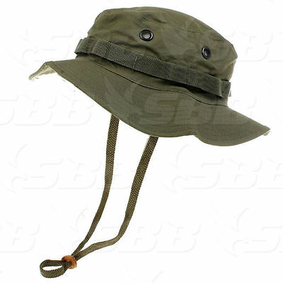27527ebff94 Cappello Jungle Bush Ripstop Deluxe 100% Cotone Od Verde Oliva Militari  Softair