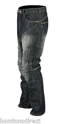 MCW Mens Motorbike Motorcycle Denim Jeans Trousers Pants with Protective Lining