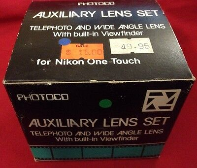 Photoco Auxiliary Lens Set Telephoto Wide Angle Viewfinder Camera-Nikon One Touc