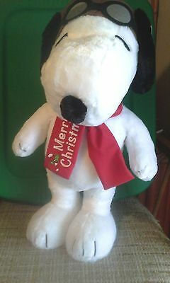 """Snoopy Red Baron 20"""" Standing Plush"""