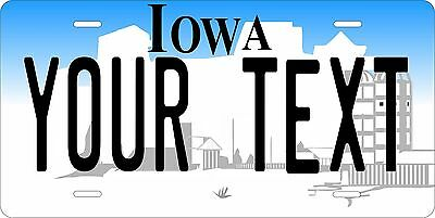Iowa 1996 Plates Tag Personalized Auto Car Custom VEHICLE OR MOPED