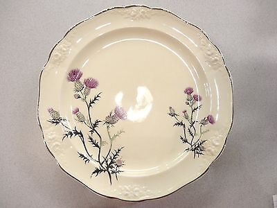 Beautiful ANTIQUE Taylor Smith & Taylor Luncheon PLATES Purple Thistle TST MARK