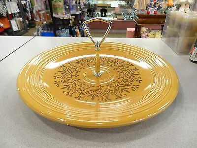 Vtg 1970 Homer Laughlin Fiesta Coventry Casualstone Antique Gold Tid Bit Plate