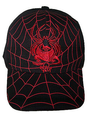 Spider Skull Baseball Caps Urban Head Wear Embroidered  For Adults  (75052B^*)