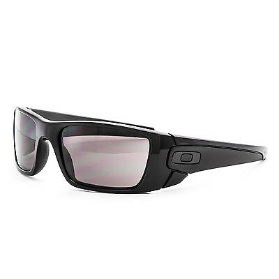Oakley Fuel Cell Sunglasses OO9096-01 Polished Black Frame Warm Grey Lens