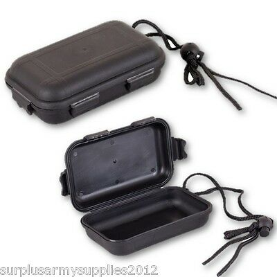 Military Waterproof Airtight Survival Box Camping Army Black Container