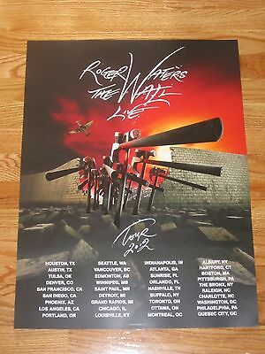 "2012 ROGER WATERS - PINK FLOYD ""THE WALL LIVE"" Concert Tour Poster"
