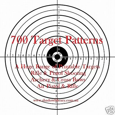 CD - 700 Target Patterns for Rifle, Pistol, Air Gun, Bow & Arrow, Crossbow, Hunt
