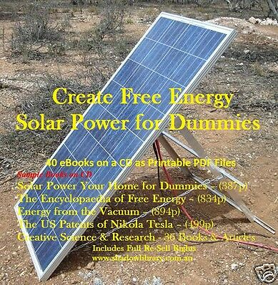 CD - Free Energy - Solar Power for Dummies - 40 eBooks