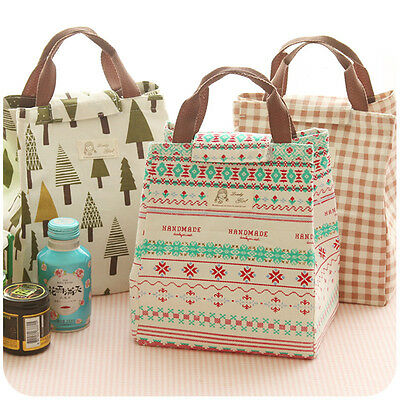 Portable Tote Thermal Insulated Lunch Box Bag-Cooler Picnic Pouch Bento Case