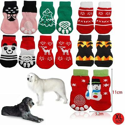 Dog Paw Non Slip Cotton Socks Wound Injured Stop Cover - Size XL