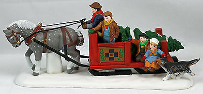 Dept 56 Dickens Village Over the River and through the Woods Sled 56545  ou914