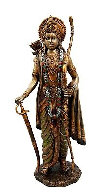 "10.25"" Tall Hindu God Rama with The Bow of Vishnu Figurine Hinduism Statue Decor"