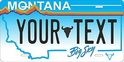 Montana 1991 License Plate Tag Personalized Auto Car Custom VEHICLE OR MOPED