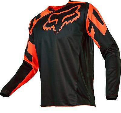 Fox 17 180 Race Orange Black MX Jersey Motocross Sport Dirt Bike Off Road Gear