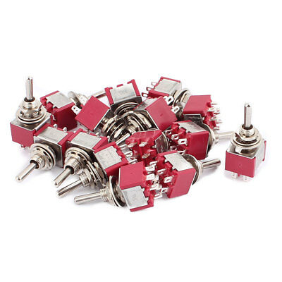 15 Pcs 250VAC 2A 125VAC 5A 6 Terminals DPDT ON/OFF/ON Momentary Toggle Switch
