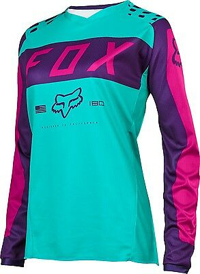 Fox 17 180 Women Purple Pink MX Jersey Motocross Sport Dirt Bike Off Road Gear
