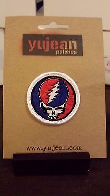 "Grateful Dead Steal Your Face 2"" Patch   Yujean  NEW"
