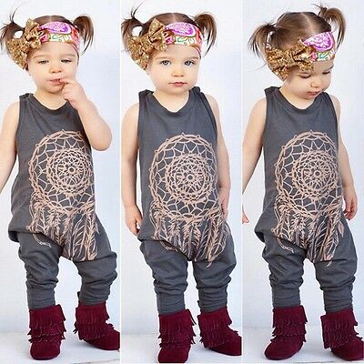 Kids Toddler Baby Girl Onesie Playsuit Jumpsuit Romper Outfit Clothes Size 000-5