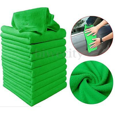 10/20X Green Soft Microfiber Wipes Cleaning Detail Cloth Auto Car Duster Towel