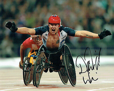 David WEIR Autograph Signed 10x8 Photo AFTAL COA Paralympic Wheelchair Athlete