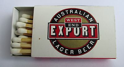 West End Beer full complete matchbox matches for home bar pub or collector